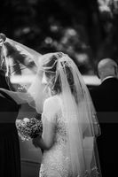 Two-tier Fingertip Bridal Veils With Scalloped Edge/Beaded Edge (006039827)