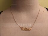 Custom Silver Letter Name Necklace - Birthday Gifts (288217711)