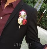 Hand-tied Artificial Flower Boutonniere (Sold in a single piece) - (123197541)