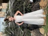 Ball-Gown/Princess Floor-length Flower Girl Dress - Tulle/Lace Sleeveless Scoop Neck With Beading (010225310)