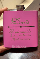 Bridesmaid Gifts - Personalized Elegant Vintage Stainless Steel Flask (256172744)
