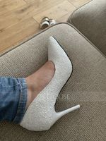 Women's Sparkling Glitter Stiletto Heel Closed Toe Pumps With Others (273184205)