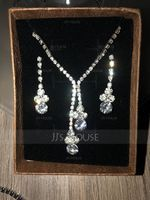 Vintage Alloy/Rhinestones With Rhinestone Ladies' Jewelry Sets (011119670)