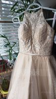 A-Line Square Neckline Chapel Train Tulle Wedding Dress With Bow(s) (002145289)