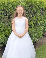 A-Line Floor-length Flower Girl Dress - Tulle/Lace Sleeveless Scoop Neck With Sash/Beading/Appliques/Bow(s)/Rhinestone (Petticoat NOT included)/(Undetachable sash) (010104224)