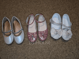 Jentas Lukket Tå Leather flat Heel Flate sko Flower Girl Shoes med Bowknot Rhinestone (207101547)