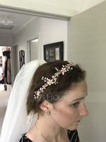 Ladies Rhinestone/Imitation Pearls Headbands (Sold in single piece) (042221368)