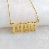 Custom 18k Gold Plated Silver Lowercase Name Necklace - Birthday Gifts Mother's Day Gifts (288211339)