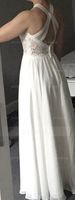 A-Line Scoop Neck Floor-Length Chiffon Wedding Dress (002186384)