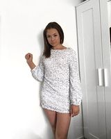 Polyester With Sequins/Solid Above Knee Dress (199229532)
