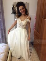 A-Line/Princess Sweetheart Sweep Train Chiffon Wedding Dress With Beading Sequins (002171955)