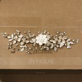 Beautiful Rhinestone/Alloy/Copper Combs & Barrettes With Rhinestone (Sold in single piece) (042235751)