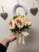 Simple And Elegant Round Satin Bridal Bouquets/Bridesmaid Bouquets - (123080413)