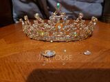 Ladies Special Rhinestone/Alloy Tiaras With Rhinestone (Sold in single piece) (042199634)