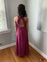 Scoop Neck Floor-Length Chiffon Lace Junior Bridesmaid Dress (268218377)