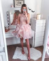 Short/Mini Tulle Cocktail Dress (270219477)