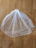 One-tier Ribbon Edge Elbow Bridal Veils With Ribbon (006115459)