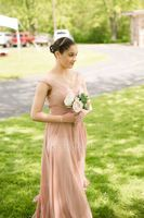Off-the-Shoulder Floor-Length Chiffon Bridesmaid Dress With Ruffle (266195851)