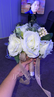 Simple And Elegant Round Artificial Flower Bridal Bouquets (Sold in a single piece) - (123219627)