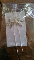 Ladies Beautiful Rhinestone/Alloy/Imitation Pearls Hairpins (Sold in single piece) (042116292)