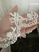 One-tier Waltz Bridal Veils With Lace Applique Edge (006036618)