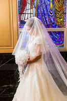 Two-tier Lace Applique Edge Cathedral Bridal Veils With Lace (006141333)