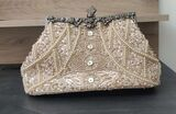 Fashionable Acrylic/Beading With Metal Clutches/Top Handle Bags (012147198)