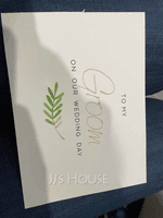 Groom Gifts - Modern Card Paper Wedding Day Card (257184626)