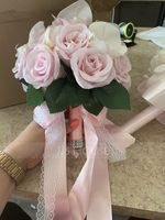 Hand-tied Satin Bridal Bouquets/Bridesmaid Bouquets (Sold in a single piece) - (123174637)