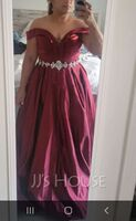 Ball-Gown/Princess Off-the-Shoulder Floor-Length Satin Prom Dresses With Beading (018105701)