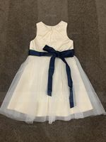 A-Line/Princess Knee-length Flower Girl Dress - Satin/Tulle Sleeveless Scoop Neck With Sash/Pleated (010092859)