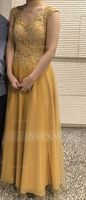 V-neck Floor-Length Tulle Lace Mother of the Bride Dress With Sequins (267196731)