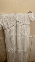 Lace Solid V-Neck Short Sleeves Maxi Dresses (293250251)