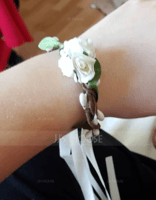 Lovely Single Flower Round Cloth Wrist Corsage - (123201741)