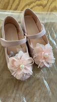 Girl's Round Toe Closed Toe Microfiber Leather Flat Heel Flats Flower Girl Shoes With Velcro Flower (207186300)