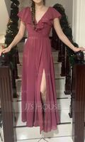 V-Neck Sleeveless Maxi Dresses (293250361)