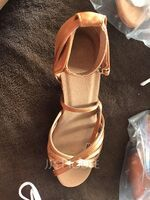 Women's Satin Sandals Latin With Ankle Strap Dance Shoes (053063268)