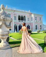Trumpet/Mermaid Sweetheart Watteau Train Chiffon Prom Dresses With Ruffle Beading Sequins (018112744)
