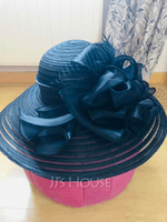 Ladies' Beautiful/Special/Elegant Papyrus/Tulle Floppy Hats/Kentucky Derby Hats (196170620)