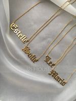 [Free Shipping]Custom 18k Gold Plated Silver Old English Name Necklace (288211270)-Christmas Gifts