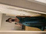 A-Line V-neck Floor-Length Satin Bridesmaid Dress With Pockets (007206490)