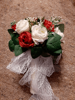Hand-tied Satin Bridal Bouquets/Bridesmaid Bouquets (Sold in a single piece) - (123170905)