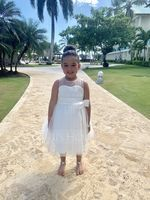 Ball Gown Knee-length Flower Girl Dress - Satin/Tulle Sleeveless Jewel With Bow(s)/Pleated/Back Hole (010094446)