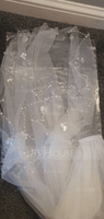 Two-tier Beaded Edge Fingertip Bridal Veils With Beading/Faux Pearl/Sequin (006094946)