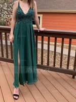 Chiffon Prom Dresses With Split Front (272234665)