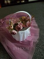 Colorful Free-Form Silk Flower Decorations/Wedding Table Flowers - (123192864)