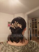 Classic Alloy Hairpins/Combs & Barrettes With Rhinestone (Set of 3) (042192947)