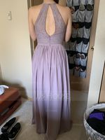 A-Line/Princess Scoop Neck Floor-Length Chiffon Bridesmaid Dress (007090156)