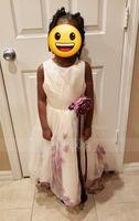 A-Line Knee-length Flower Girl Dress - Satin/Tulle Sleeveless Scoop Neck With Flower(s) (010104752)
