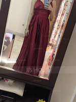 Satin Prom Dresses With Ruffle Pockets (272214558)